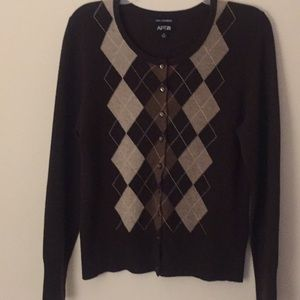 Apt 9 Brown Cashmere Cardigan - Size Medium